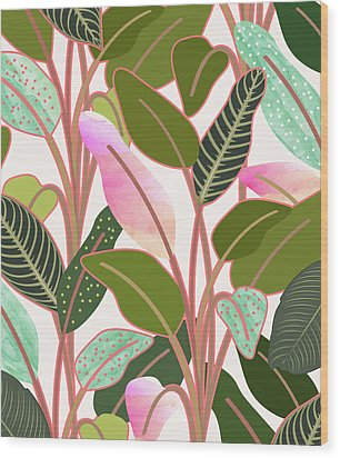 Color Paradise Wood Print