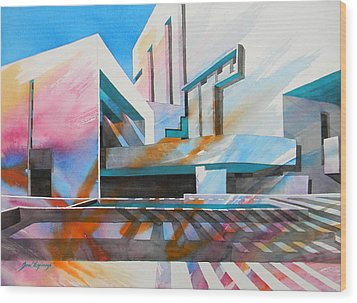 Wood Print featuring the painting Color Simphony by J- J- Espinoza