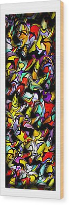Color Unfolds Wood Print by Joan  Minchak