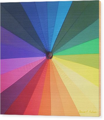 Color Wheel Wood Print