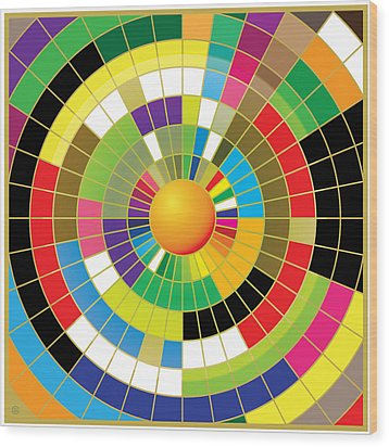 Color Wheel Wood Print by Gary Grayson