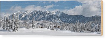 Wood Print featuring the photograph Colorad Winter Wonderland by Darren White