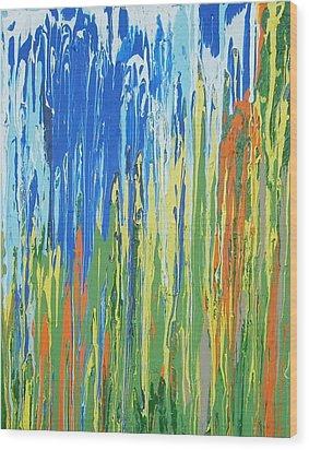 Colorado Aspens Wood Print by Ernie Ferguson