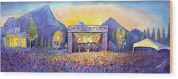 Wood Print featuring the painting Colorado Bbq Challenge Frisco by David Sockrider