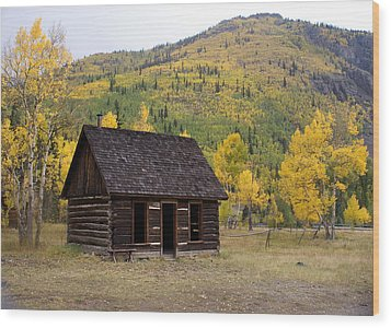 Colorado Cabin Wood Print by Marty Koch
