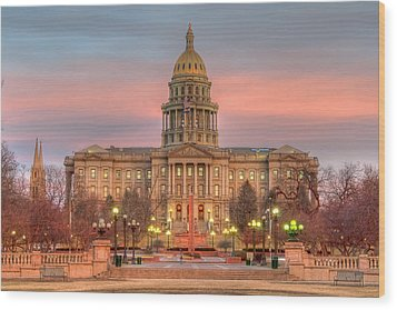 Wood Print featuring the photograph Colorado Capital by Gary Lengyel