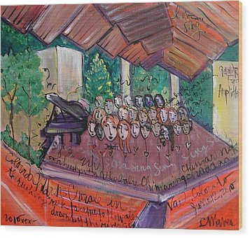 Colorado Childrens Chorale Wood Print by Laurie Maves ART