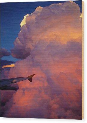 Colorado Cloud Wood Print by Gina Cordova