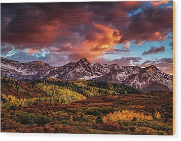 Colorado Color Wood Print
