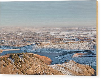 Colorado Front Range And Plains Wood Print