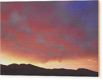 Colorado Front Range Rocky Mountains Foothills Sunset Wood Print by James BO  Insogna