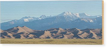 Colorado Great Sand Dunes Panorama Pt 1 Wood Print by James BO Insogna