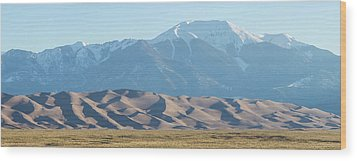Colorado Great Sand Dunes Panorama Pt 2 Wood Print by James BO Insogna