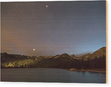 Wood Print featuring the photograph Colorado Indian Peaks Stellar Night by James BO Insogna