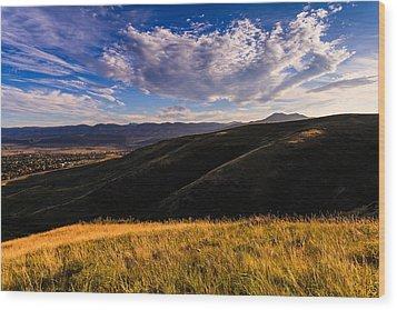 Colorado Landscape Wood Print by Jonathan Gewirtz