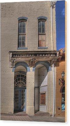 Belvidere Theatre Wood Print
