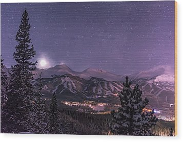 Colorado Night Wood Print by Michael J Bauer