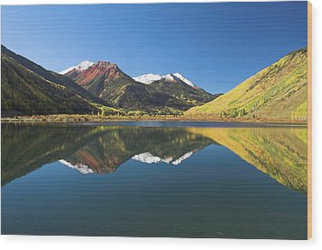 Colorado Reflections Wood Print by Steve Stuller