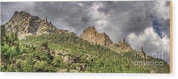 Colorado Ridgeway Wood Print by Pete Hellmann