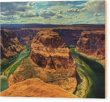Colorado River At Horseshoe Bend Wood Print by Harry Strharsky