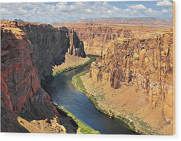 Colorado River At Marble Canyon Az Wood Print by Christine Till