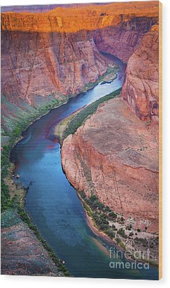 Colorado River Bend Wood Print by Inge Johnsson