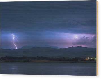 Wood Print featuring the photograph Colorado Rocky Mountain Foothills Storm by James BO Insogna