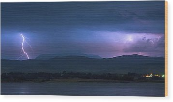 Wood Print featuring the photograph Colorado Rocky Mountain Foothills Storm Panorama by James BO Insogna