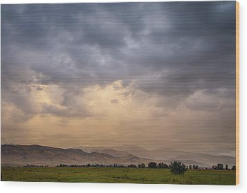 Wood Print featuring the photograph Colorado Rocky Mountain Foothills Storms by James BO Insogna