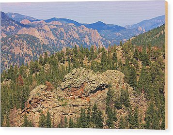 Wood Print featuring the photograph Colorado Rocky Mountains by Sheila Brown