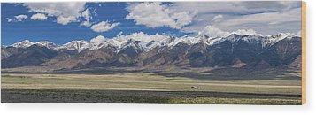 Colorado San De Cristo Mountains Panorama View Wood Print by James BO Insogna