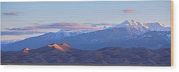 Colorado Sand Dunes First Light Sunrise Panorama Wood Print by James BO Insogna