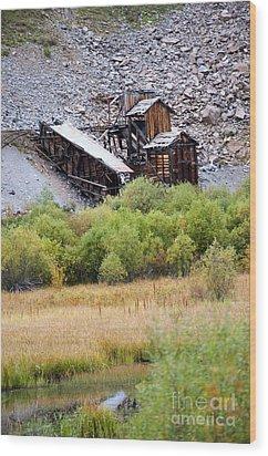 Colorado Silver Mine  Wood Print