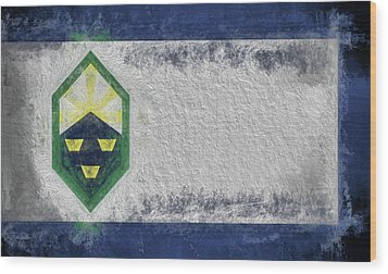 Wood Print featuring the digital art Colorado Springs City Flag by JC Findley