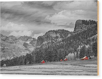 Colorado Western Landscape Red Barns Wood Print by James BO  Insogna