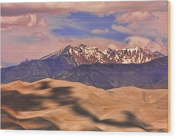 Colorado's Great Sand Dunes Shadow Of The Clouds Wood Print by James BO  Insogna