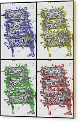 Colorblind Revisited Wood Print by Teddy Campagna