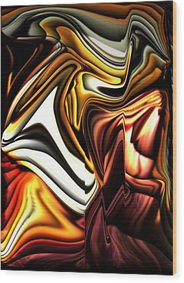 Colorful Abstract13 Wood Print by Teo Alfonso