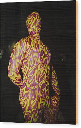 Colorful Anonymous Form Wood Print