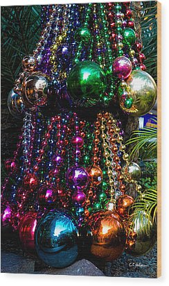 Colorful Baubles Wood Print by Christopher Holmes