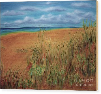 Colorful Beach Wood Print