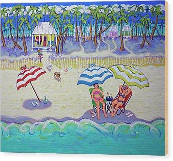 Colorful Beach Hideaway Wood Print