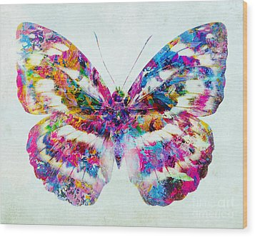 Colorful Butterfly Art Wood Print by Olga Hamilton