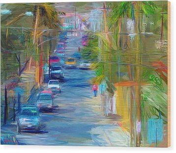 Colorful Calle  Wood Print