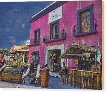 Colorful Cancun Wood Print by Douglas Barnard