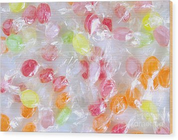 Colorful Candies Wood Print by Carlos Caetano