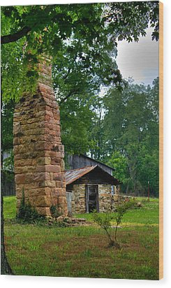 Colorful Chimney Wood Print by Douglas Barnett