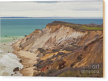 Wood Print featuring the photograph Colorful Clay Cliffs On The Vineyard by Michelle Wiarda