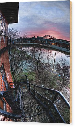 Colorful Cleveland Wood Print by Joshua Ball