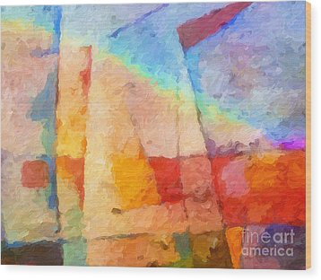 Colorful Coast Wood Print by Lutz Baar